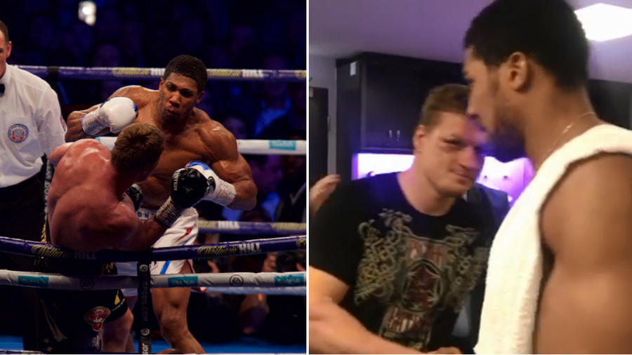'Udachi Povetkin, I want to come to Russia' – Anthony Joshua practices Russian skills (PHOTOS/VIDEO)