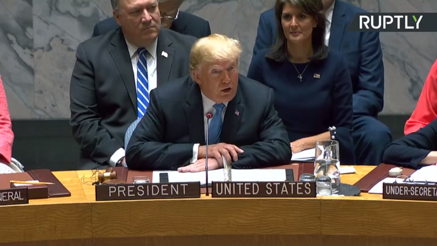 Trump chairs his 1st UNSC session as countries clash on Iran & Syria