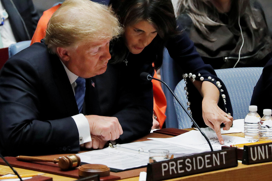 Missing in action: Trump leaves UN Security Council he was chairing
