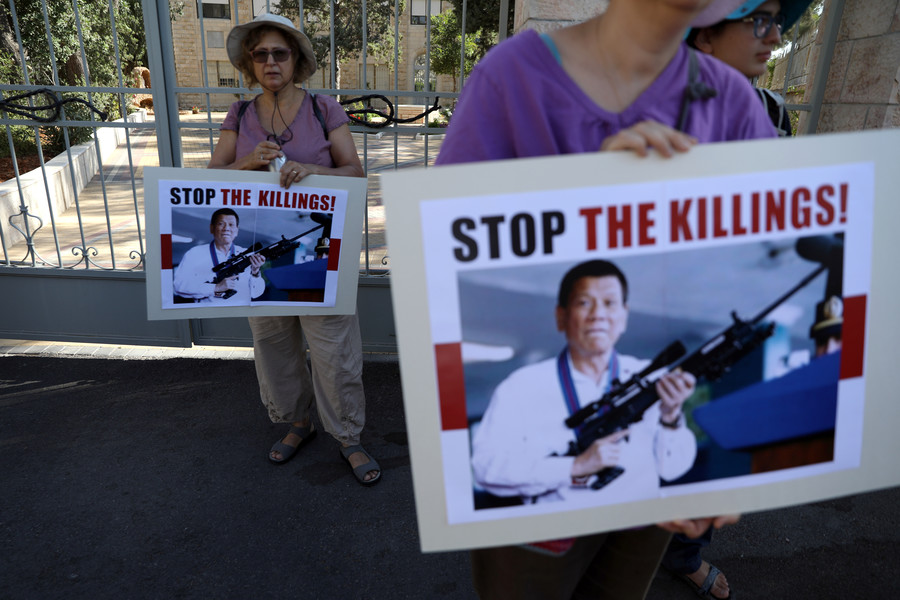 'My only sin is the extrajudicial killings': Duterte's strange 'confession' dismissed as 'playful'
