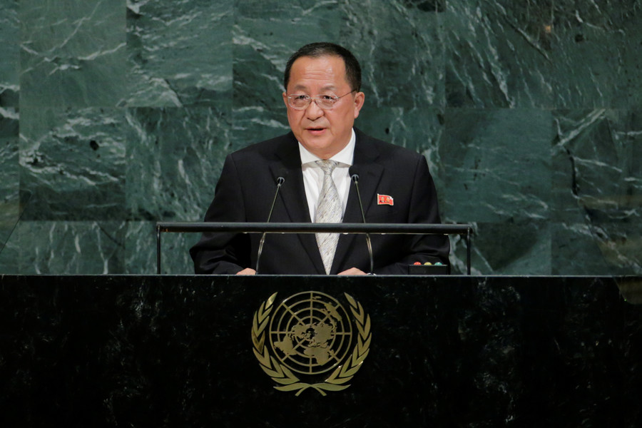 North Korean foreign minister speaks at UNGA