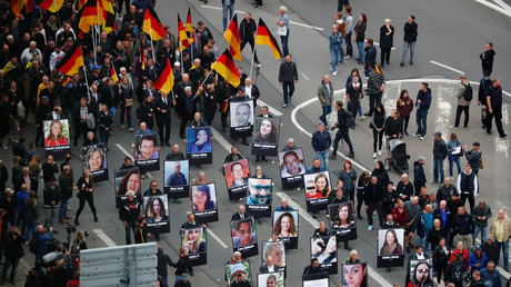 Demonstrations following the killing of a German man in Chemnitz, Germany © Hannibal Hanschke