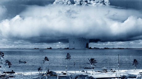 FILE PHOTO Cloud from the underwater Baker nuclear explosion, 1946 © Global Look Press