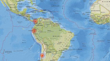 5b91fa57dda4c89b2e8b4596 Series of strong quakes shake Panama, Ecuador & Chile (VIDEOS)