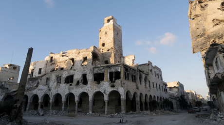 A historic building ruined during a conflict, Benghazi, Libya, February 28, 2018 © Esam Omran Al-Fetori