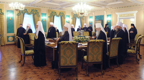 FILE PHOTO: A meeting of the Holy Synod of the Russian Orthodox Church. © Sergey Pyatakov
