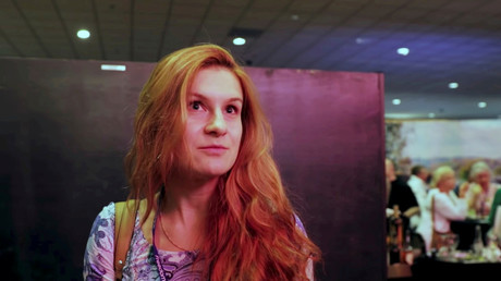 FILE PHOTO Maria Butina speaks to camera at 2015 FreedomFest conference in Las Vegas, Nevada, US
