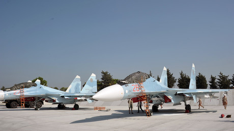 FILE PHOTO. Russian Su-30 fighter jets at the Khmeimim Air base near Latakia. © Dmitry Vinogradov