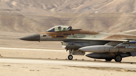FILE PHOTO An Israeli F-16 fighter jet during the Blue Flag drill November 25, 2013 © Amir Cohen