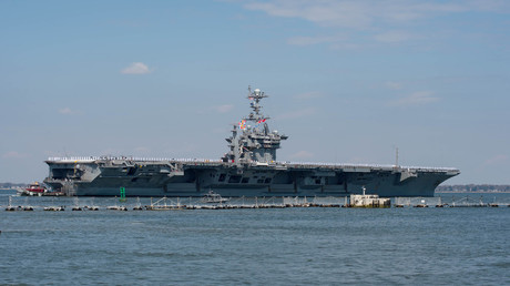 US aircraft carrier Truman crosses Atlantic after threats to Syria