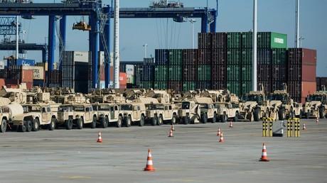 FILE PHOTO. US military equipment seen at Polish port of Gdansk. © Agencja Gazeta