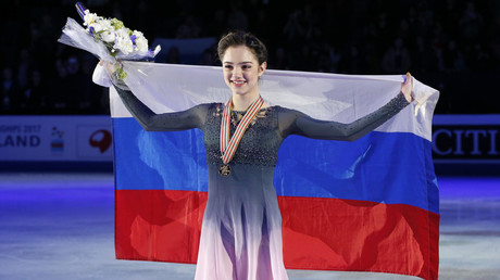 World record holder Zagitova blames post-Olympic events for poor performance at worlds (PHOTOS)