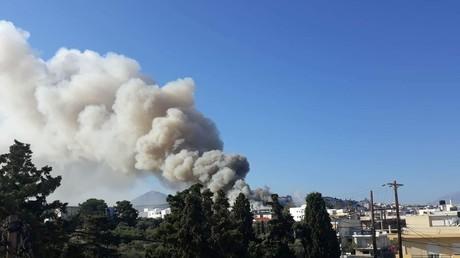 Massive fire at Crete university leaves Greek city engulfed in smoke (PHOTOS, VIDEO)