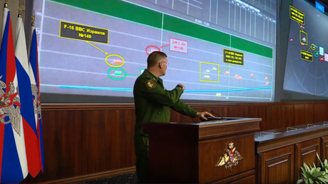 Russian MoD: S-400 data shows Israeli F-16 hid behind Russian Il-20 to avoid Syrian missile (VIDEO)
