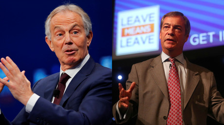 'Real betrayal': Blair blasted by Farage in Brexit beef