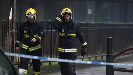 Huge blaze breaks out at London Leisure Center - 80 firefighters at the scene