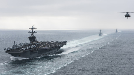 Iran releases footage of US carrier chased by Iranian speedboats in Hormuz Strait in March (VIDEO)
