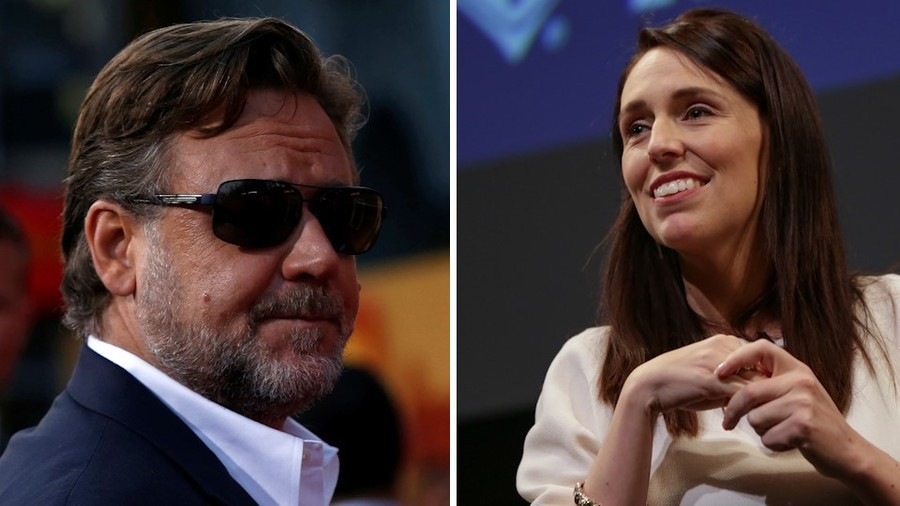 Russell Crowe calls for NZ PM Ardern to also lead Oz, Twitter cheers, but Kiwis don't want to share