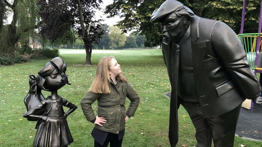 Twitter cheers as Roald Dahl's Matilda faces off against Trump (PHOTOS)