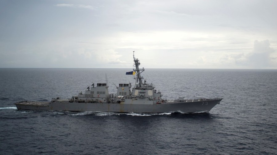 Chinese and U.S. warships in South China Sea close encounter