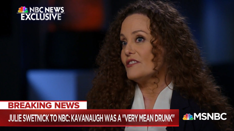 'A lying slip-and-fall con artist' – Kavanaugh accuser savaged for TV interview