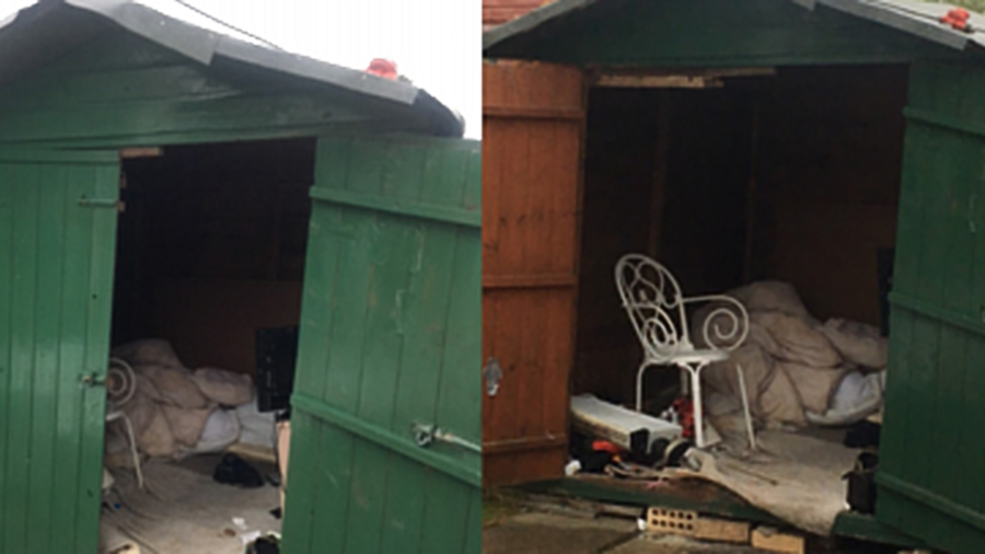 Man rescued after 'living in shed for 40 years'