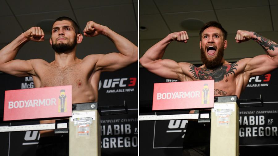Khabib Nurmagomedov & Conor McGregor both make weight ahead of UFC229 (PHOTOS)