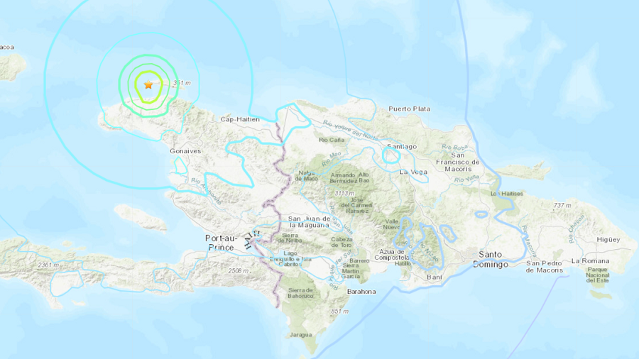 Magnitude 5.9 quake  hits northern Haiti