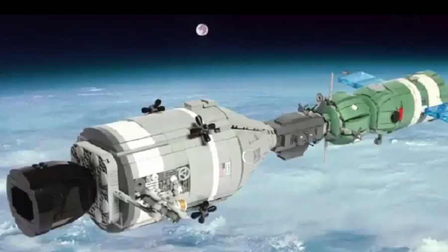 NASA administrator shows off historic spaceship...made of Lego