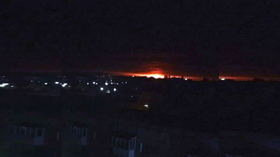 Thousands evacuated after explosions at ammo depot in Ukraine's north