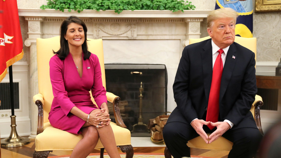 Trump accepts Nikki Haley's surprise resignation as UN ambassador