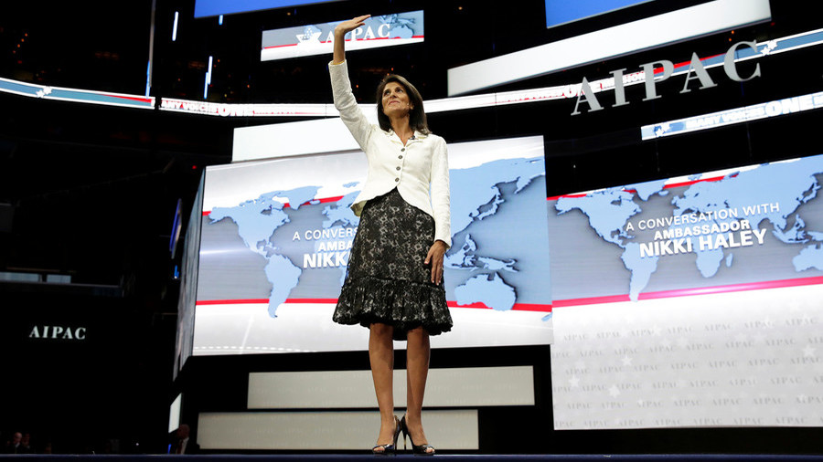 Wasn't she supposed to serve US? Twitter unamused as IDF 'salutes' Haley for her support for Israel
