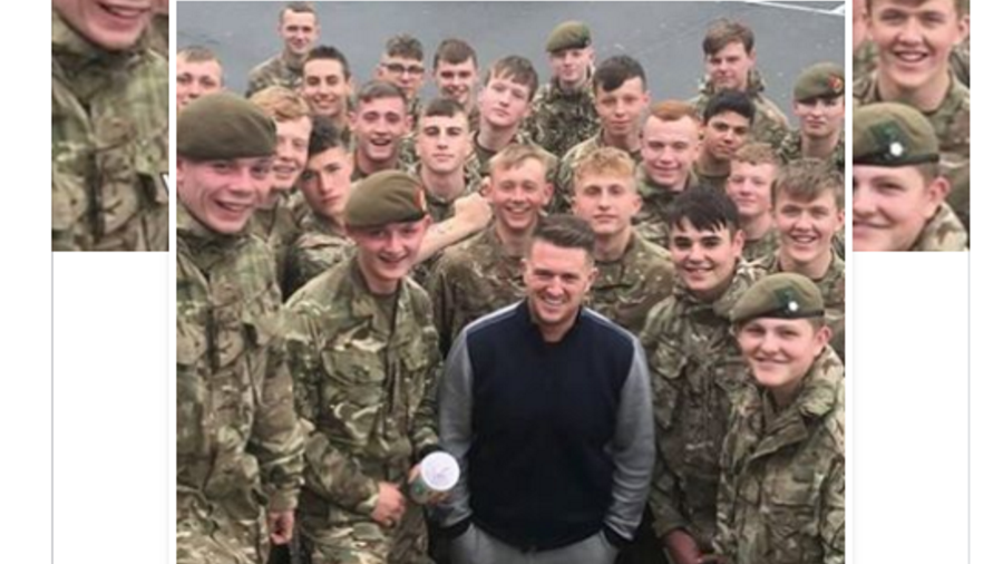 Army investigating Tommy Robinson's photo op with troops, activist vows support for 'British heroes'