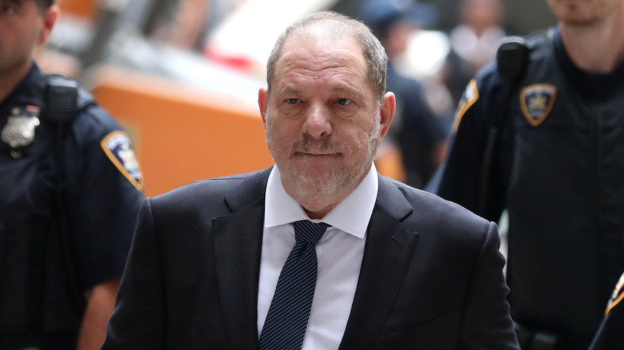 Judge dismisses one charge against Harvey Weinstein