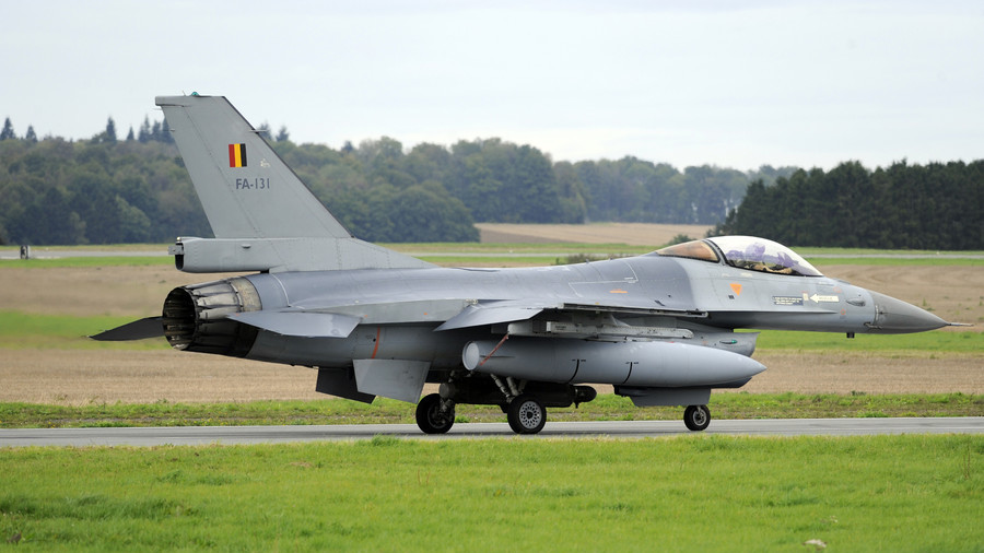 F-16 jet 'destroyed' after catching fire at Belgium military base (PHOTOS)