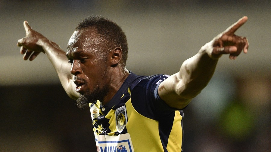 Usain Bolt bags 1st goals of football career on 1st start for Australian club (VIDEO)