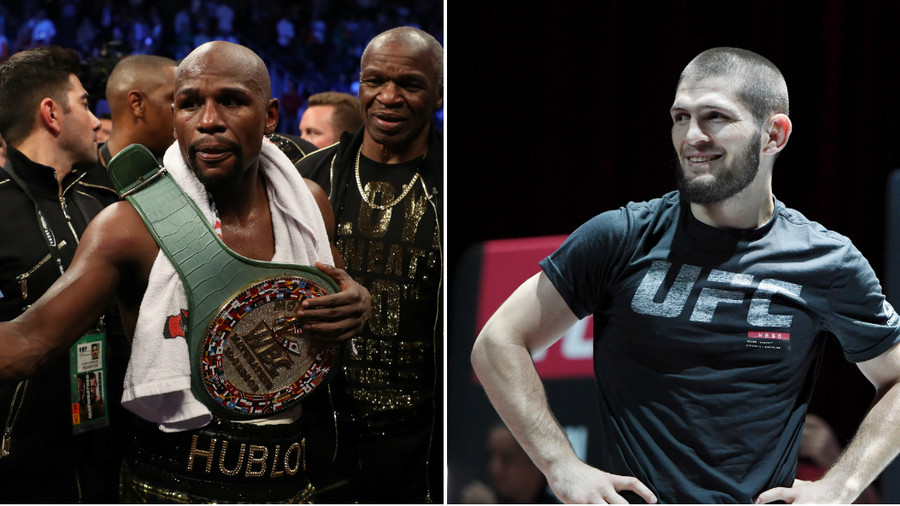 'Get the checkbook out!' – Mayweather responds to Khabib call-out