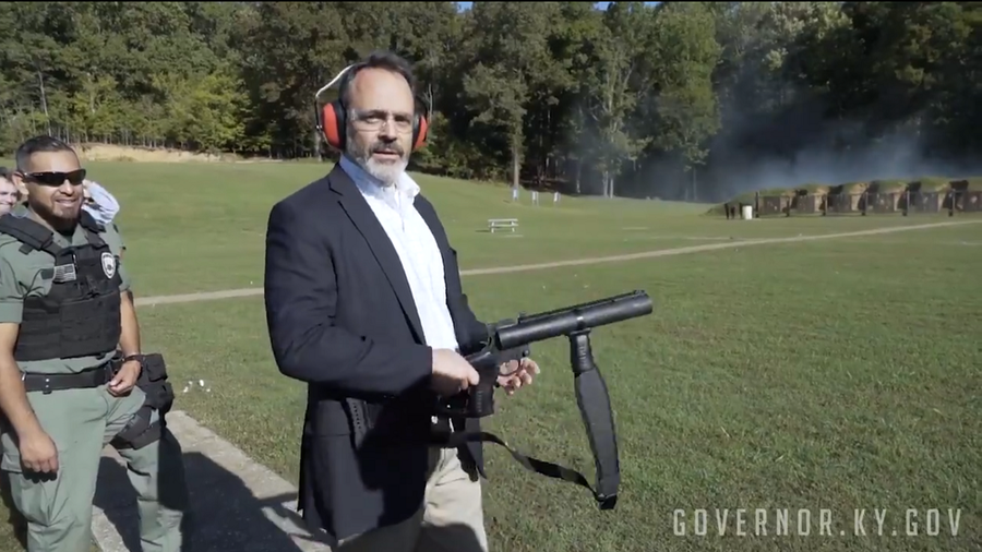 Kentucky governor catches heat for grenade-throwing publicity stunt (VIDEO)