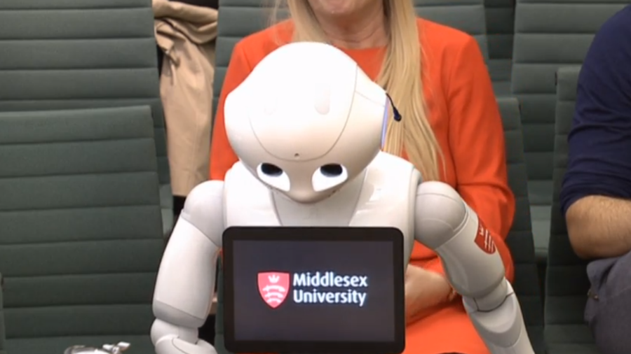 Robot answers questions from Education Select Committee