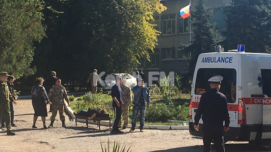 18 dead in gun and bomb rampage by Crimea college student