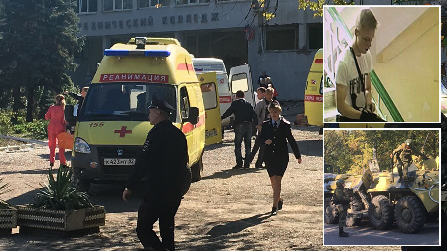 'Bodies lying everywhere': Shooting at Crimea college has echoes of Columbine massacre