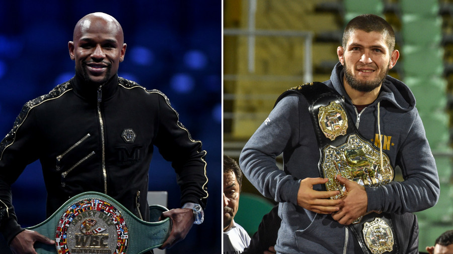 'Oh, we fighting': Mayweather 'looking at 9-figure payday' for Khabib bout (VIDEO)