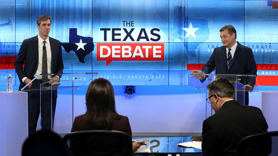 "Lyin'"" Ted Cruz and 'extreme' Beto O'Rourke Midterm debate descends into insults and barbs"
