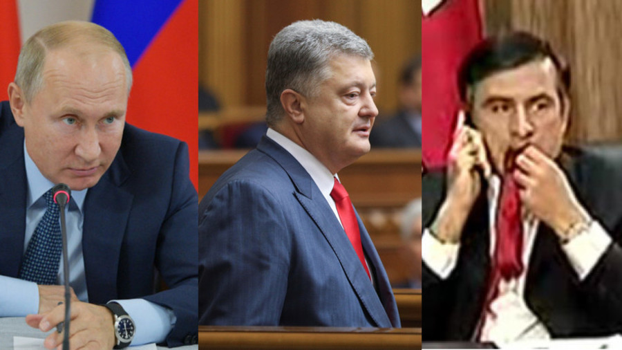 Putin to Poroshenko: Don't be like Georgia's Saakashvili, who lost vast territories