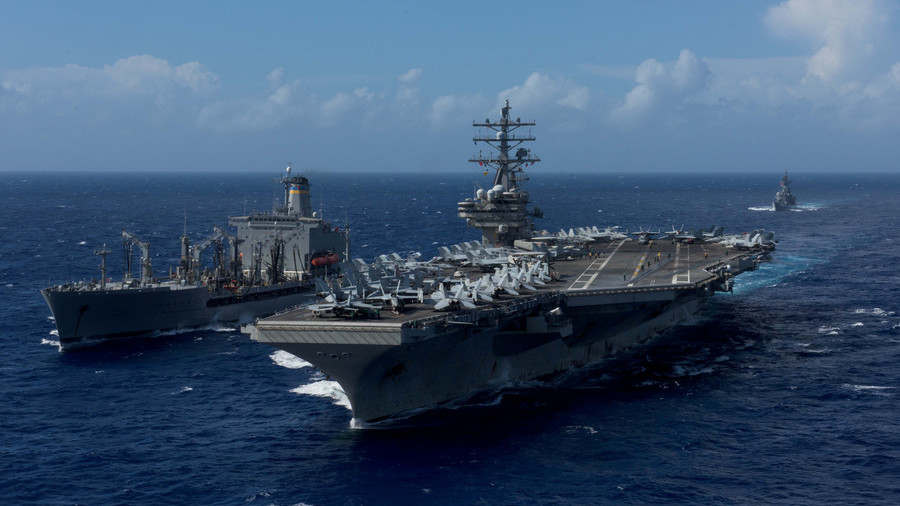 Helicopter of most disastrous Seventh Fleet crashes aboard USS 'Ronald Reagan' in Philippine Sea