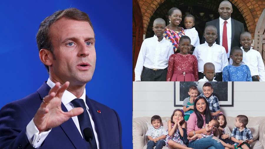 Moms v Macron: Women blast French leader for claiming educated ladies won't choose large family