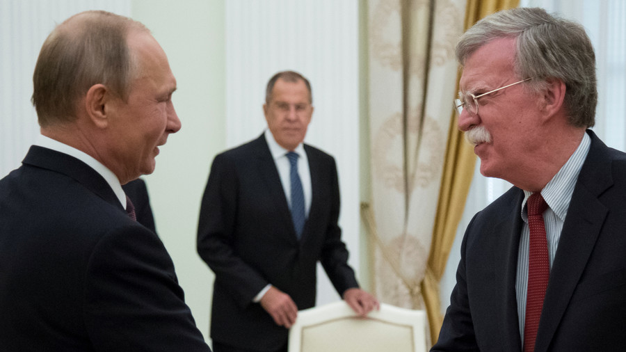 Kremlin 'counting on' Putin-Bolton meeting in Moscow