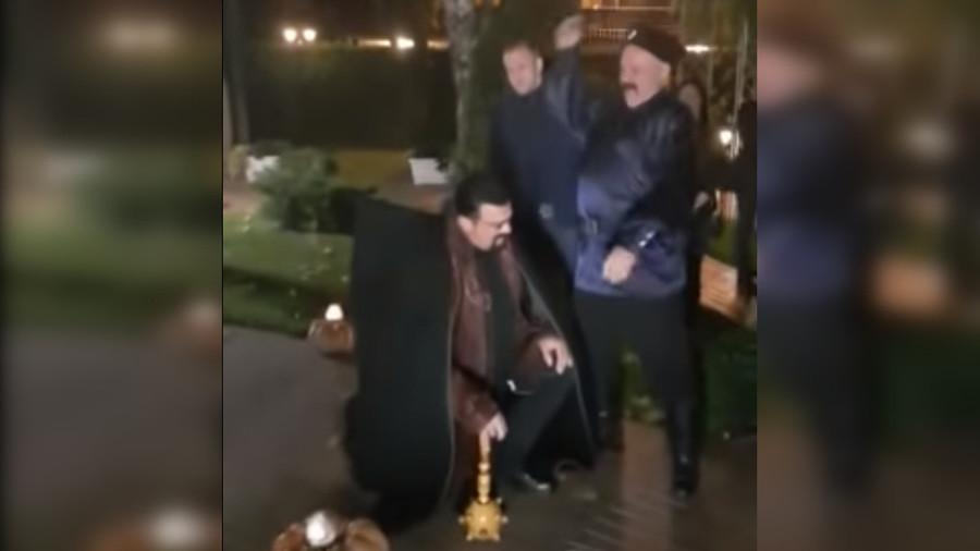 Cossacked! Steven Seagal gets LASHES in bizarre Russian rite (VIDEO)
