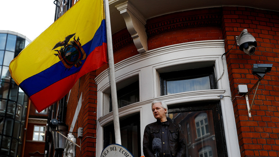 Assange sues Ecuador for 'violating fundamental rights & freedoms' over new set of 'censure' rules