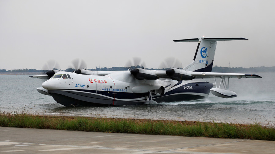 Bigger boat: World's largest amphibious aircraft makes maiden water take-off & landing